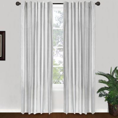 Park B. Smith Ottavia 84-Inch Back Tab Window Curtain Panel in Silver