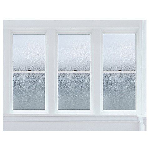 premium glacier static cling window film in clear. Black Bedroom Furniture Sets. Home Design Ideas