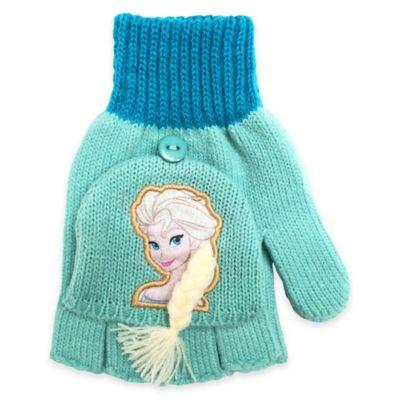 """""""Frozen"""" Flip Back Elsa Gloves in Teal"""