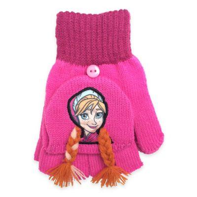 """""""Frozen"""" Flip Back Anna Gloves in Pink"""