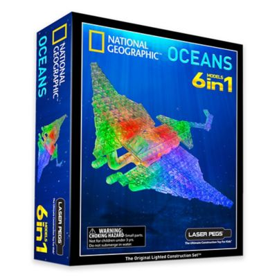 Laser Pegs National Geographic® 6-in-1 Oceans Lighted Construction Toy