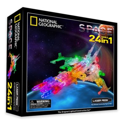 Laser Pegs National Geographic® 24-in-1 Space Lighted Construction Toy