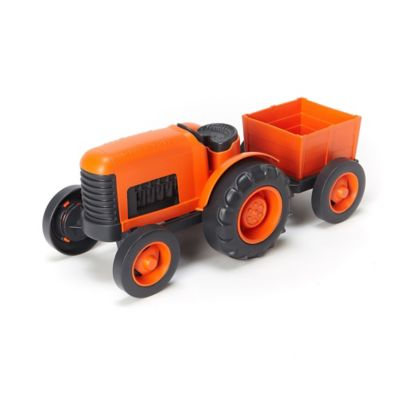 Green Toys Farm Tractor in Orange