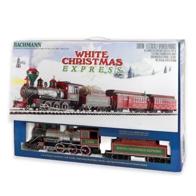 "Bachmann Trains White Christmas Large ""G"" Scale Ready To Run Electric Train Set"