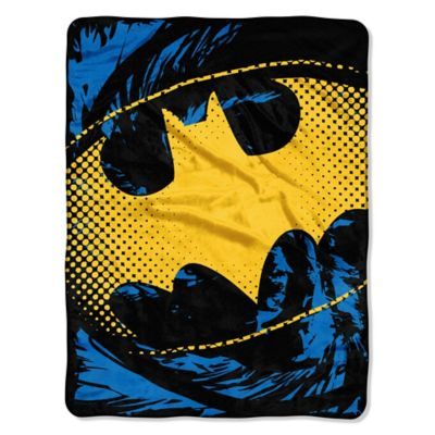 DC Comics Batman Shield Micro-Raschel Throw