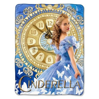"Disney® Cinderella ""Clock Strikes"" Micro-Raschel Throw"