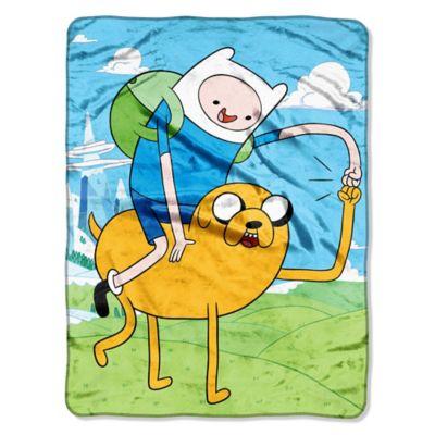 Adventure Time Micro-Raschel Throw