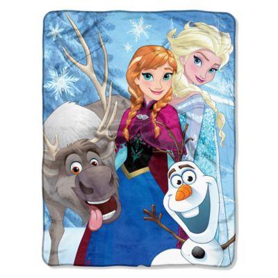 """Disney® Frozen """"Winter Bunch"""" Micro-Raschel Throw"""