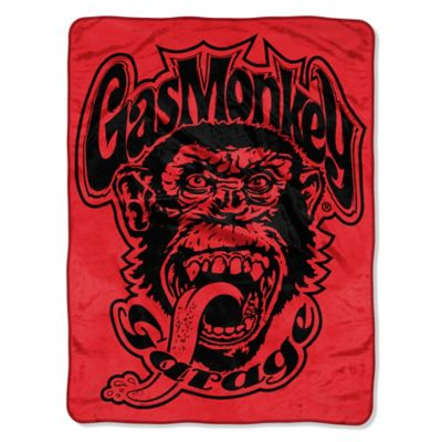 Gas Monkey Garage Micro-Raschel Throw