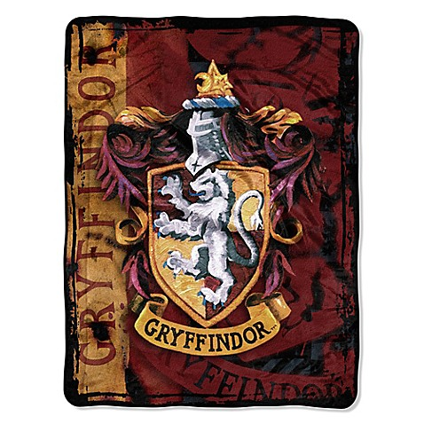 harry potter gryffindor micro raschel throw bed bath. Black Bedroom Furniture Sets. Home Design Ideas