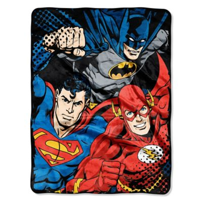 "DC Comics ""Justice League Trio"" Micro-Raschel Throw"