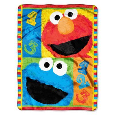 "Sesame Street® ""123"" Play With Me Micro-Raschel Throw"