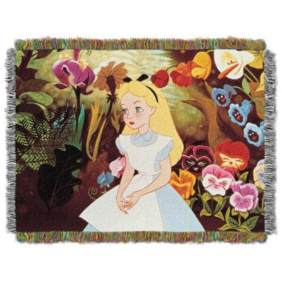 "Disney® Alice in Wonderland ""Alice in the Garden"" Tapestry Throw"