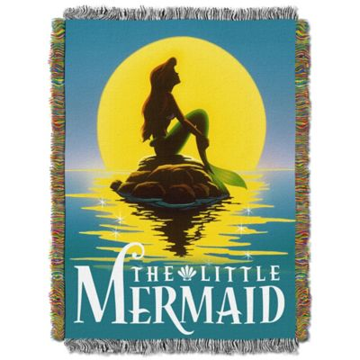 "Disney® The Little Mermaid ""Ariel Poster"" Tapestry Throw"