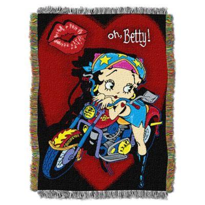 "Betty Boop™ ""Biker Betty Boop"" Tapestry Throw"