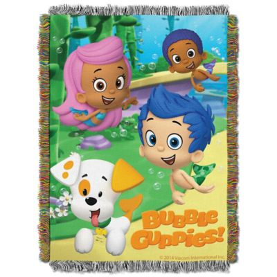 "Bubble Guppies ""Guppy Fun"" Tapestry Throw"