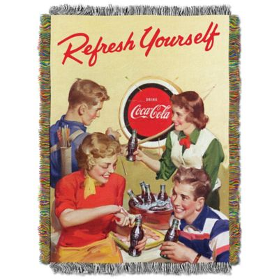 "Coca-Cola® ""Refresh Yourself"" Tapestry Throw"