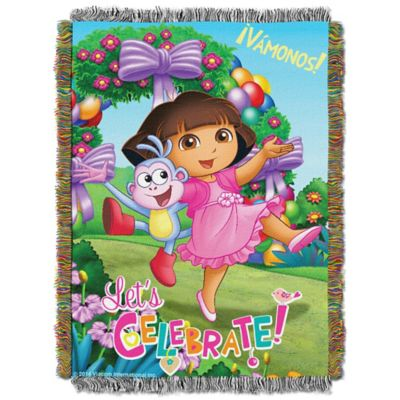 "Dora the Explorer™ ""Celebrate Dora"" Tapestry Throw"