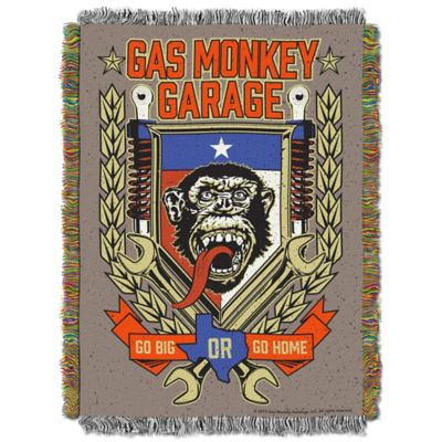 Gas Monkey Garage Tongue Swag Tapestry Throw