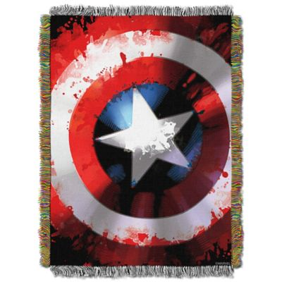 Marvel Comics Captain America Star Shield Tapestry Throw