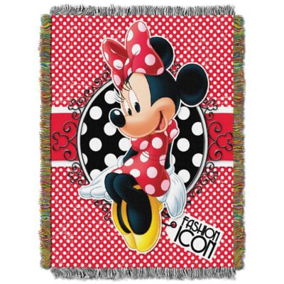 "Disney® Minnie Mouse ""Forever Minnie"" Tapestry Throw"
