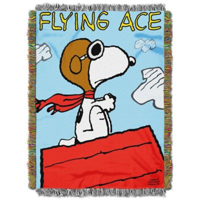 "Peanuts™ ""The Flying Ace"" Tapestry Throw"