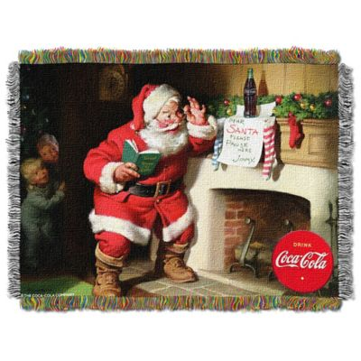 Coca-Cola® Note to Santa Tapestry Throw