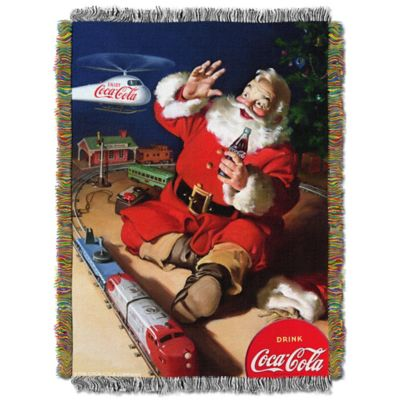 Coca-Cola® Santa Helicopter Tapestry Throw