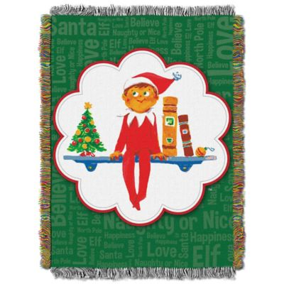 Elf on the Shelf® Christmas Tradition Tapestry Throw
