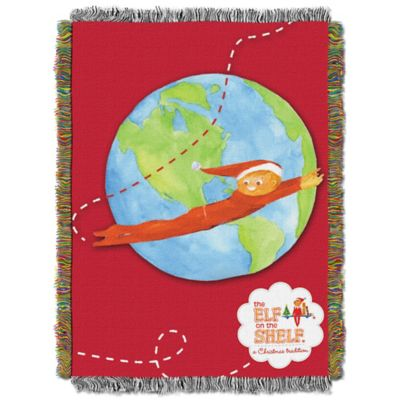 Elf on the Shelf® Elf Travels Tapestry Throw