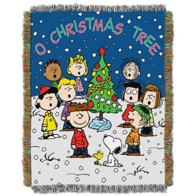 Peanuts® Charlie Brown Christmas Tapestry Throw