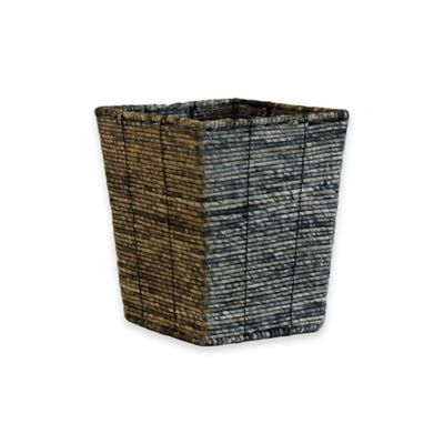 Binded Maize Wastebasket in Grey