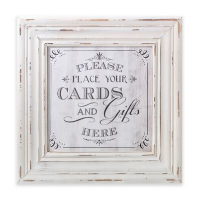 Lillian Rose™ Square Cards Framed Sign in White