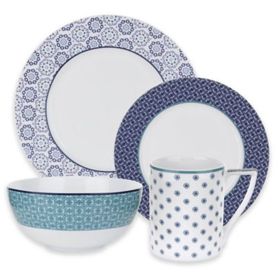 Ted Baker Portmeirion® Casual Collection Langdon 4-Piece Place Setting in Blue
