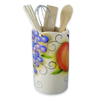Lorren Home Trends Fruit Design Utensil Crock
