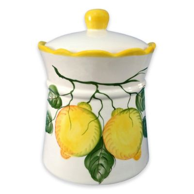 Lorren Home Trends Lemon Design Cookie Jar