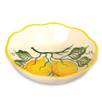 Lorren Home Trends Lemon Design Round Bowl