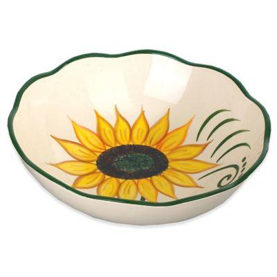 Lorren Home Trends Sunflower Design Round Bowl