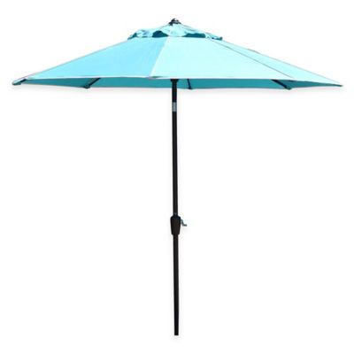 Black 9 Foot Patio Umbrella