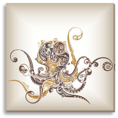 Octopus Large Canvas Wall Art