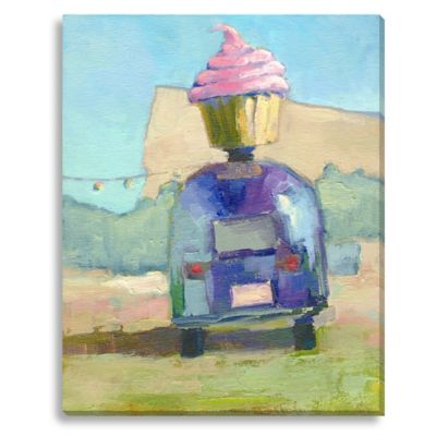 Hey Cupcake by Suzanne Stewart Large Canvas Wall Art