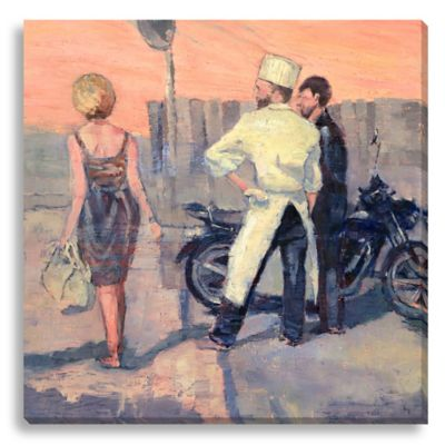 Italian Handbag by Suzanne Stewart Medium Canvas Wall Art