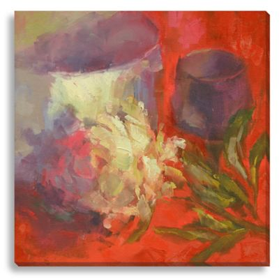 La Pivoine by Suzanne Stewart Large Canvas Wall Art