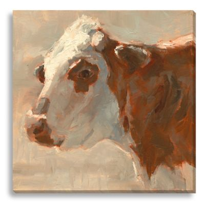 Moo by Suzanne Stewart Large Canvas Wall Art
