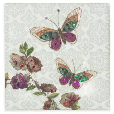 Butterfly Sequins Canvas Print Wall Art