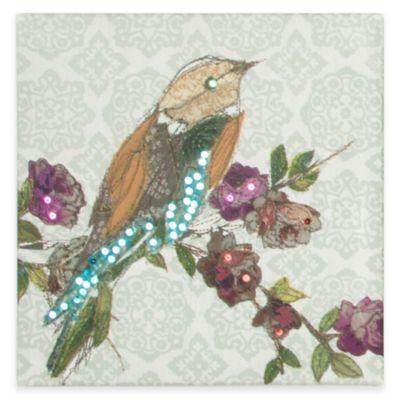 Bird Sequins Canvas Print Wall Art