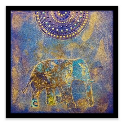 Blue Elephant Framed Corkboard