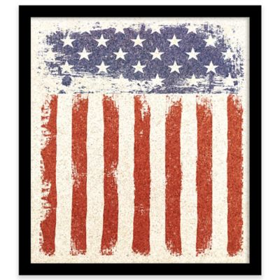 American Flag Framed Corkboard