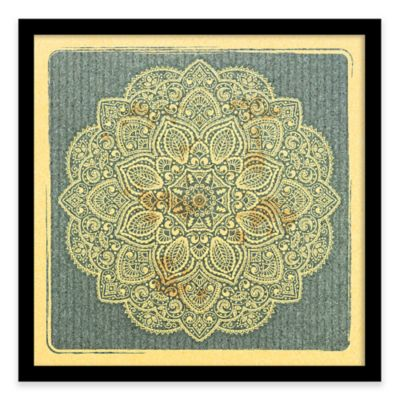 Ornamental Pattern Framed Corkboard
