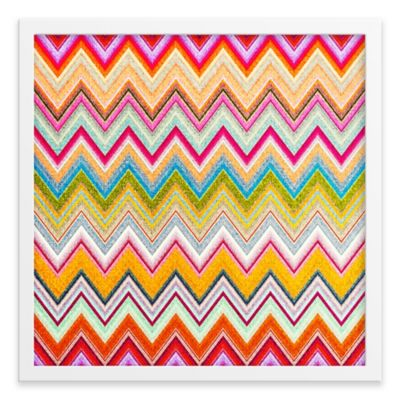 Abstract Chevron Framed Corkboard
